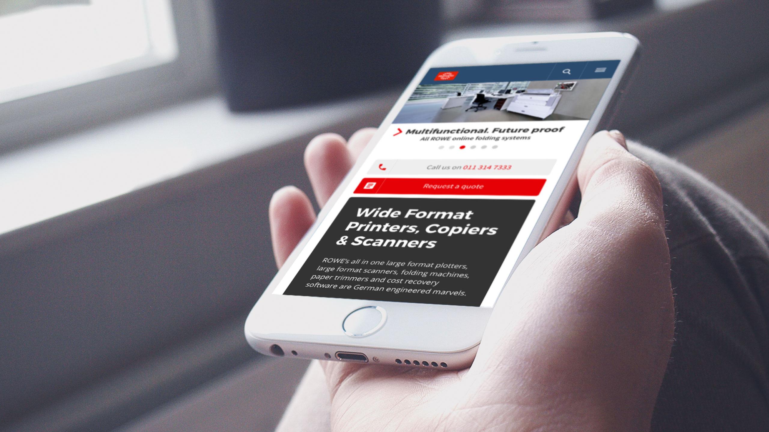 Mobile - Responsive website for ROWE SA
