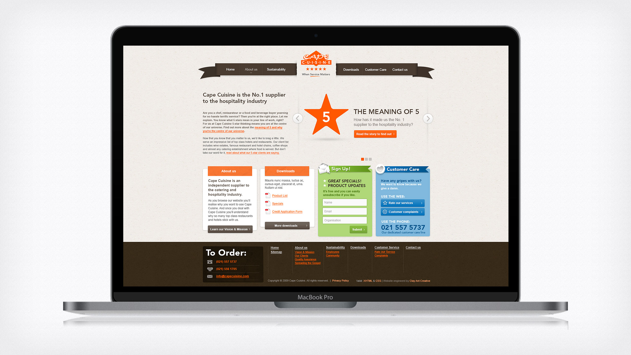 Cape Cuisine Website Design