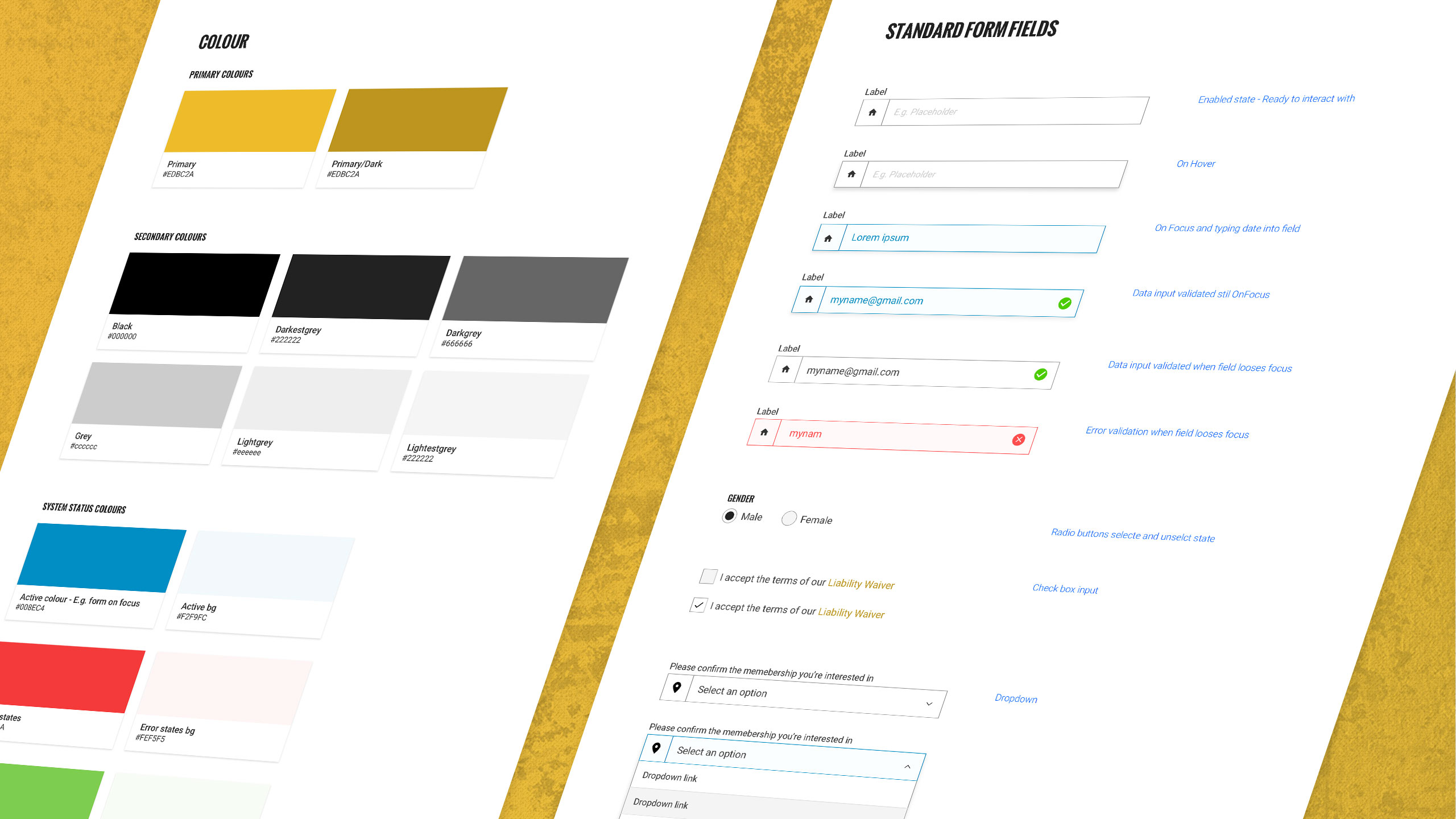 Style guide for GoldBox Responsive Website