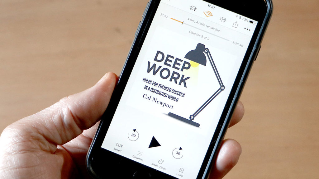 Deep Work book on Audible App on iPhone