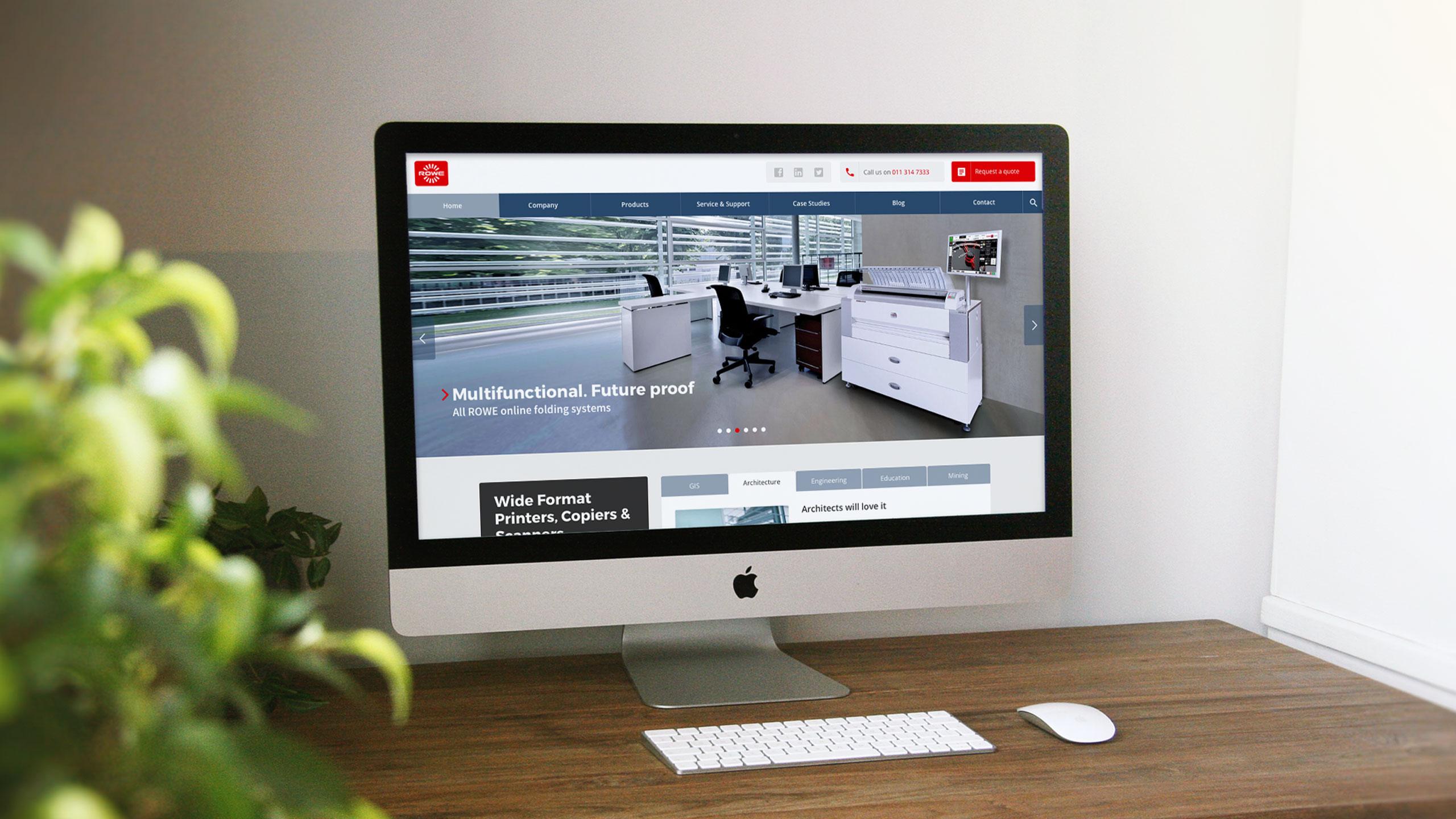 Desktop - Responsive website for ROWE SA