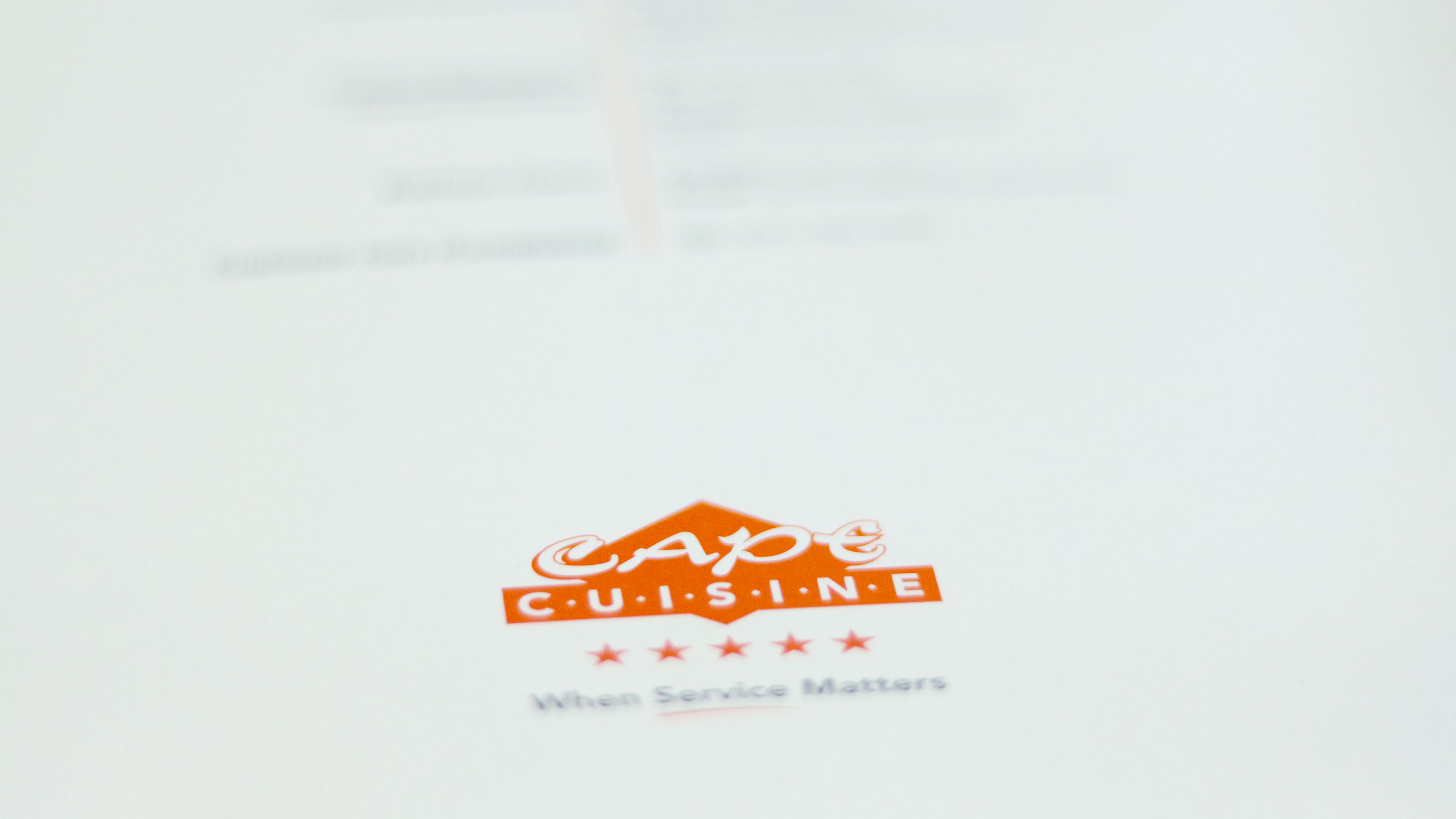 Cape Cuisine Brochure Design
