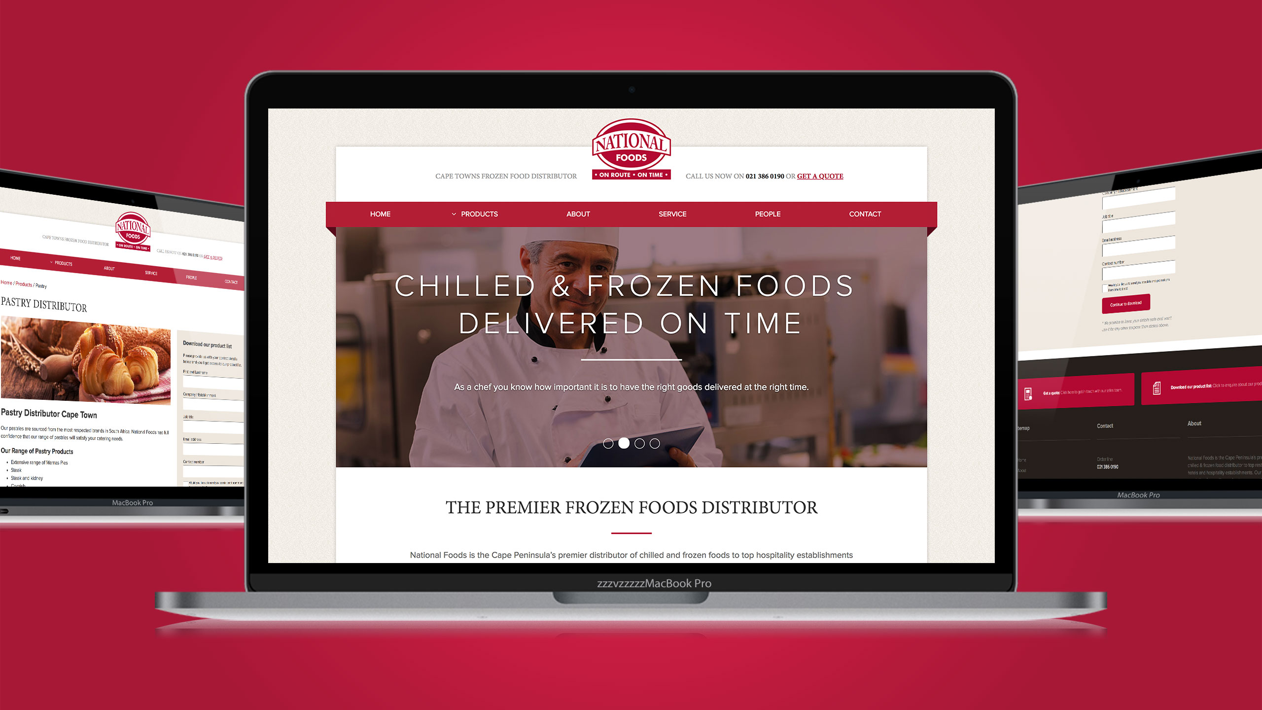 Brand identity design and online marketing for National Foods