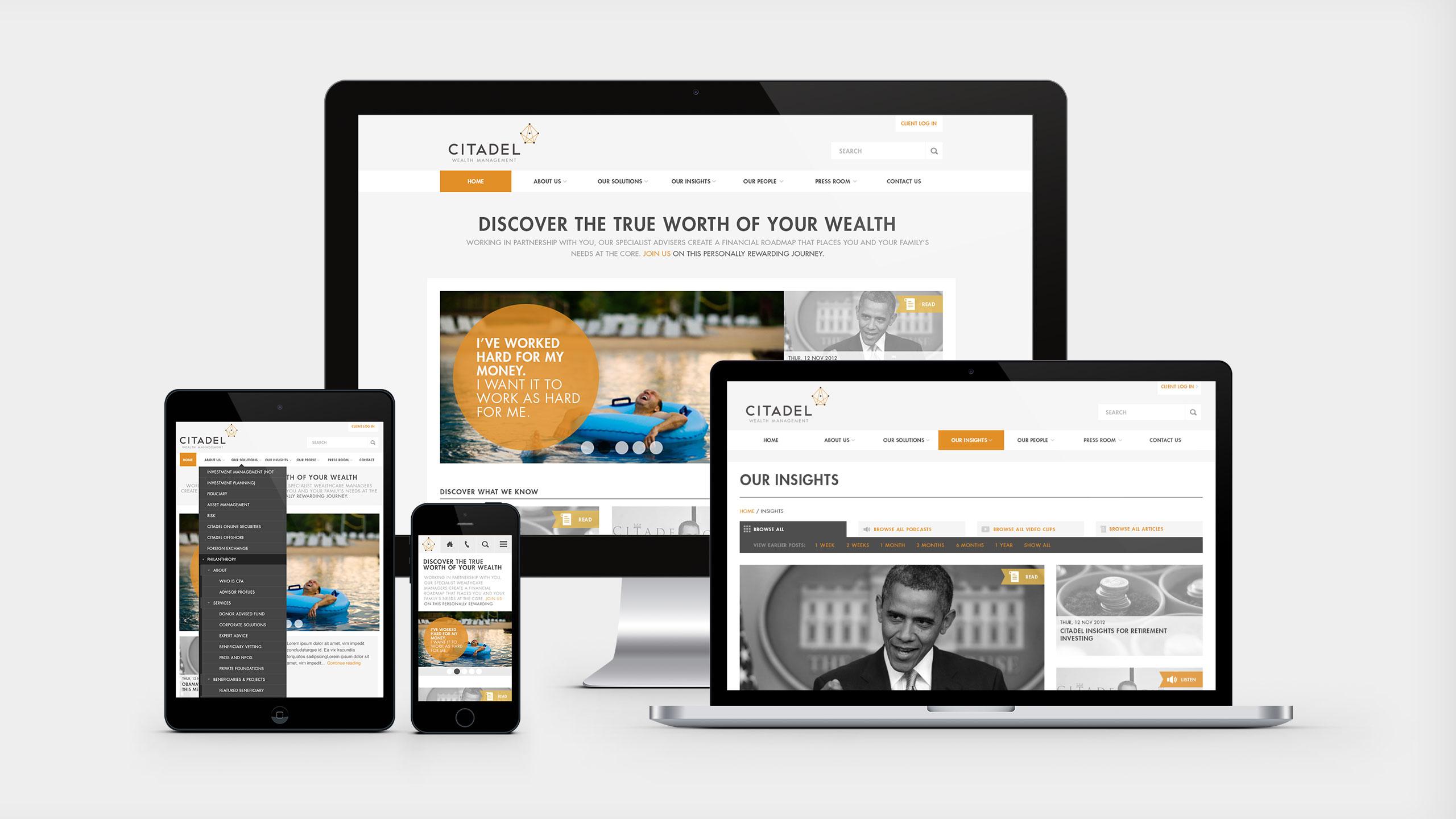 Citadel responsive website